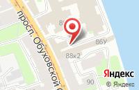 Схема проезда до компании Балтийская Региональная Инженерно-Строительная Компания в Санкт-Петербурге
