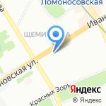 Лондон на карте Санкт-Петербурга