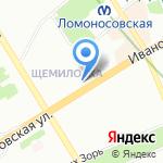 Афоня на карте Санкт-Петербурга