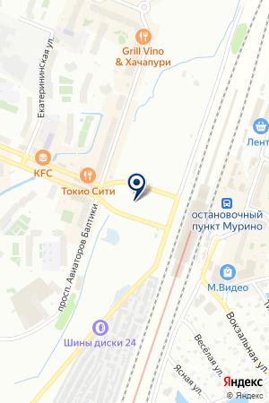 Магазин чехлов для мобильных телефонов на карте Мурино