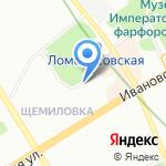 Народный на карте Санкт-Петербурга