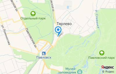 Местоположение на карте пункта техосмотра по адресу г Санкт-Петербург, п Тярлево, ш Фильтровское, д 12 литер а
