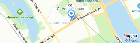 Банкомат Хоум Кредит энд Финанс Банк на карте Санкт-Петербурга