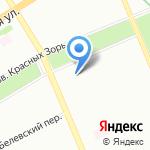 Красные зори на карте Санкт-Петербурга