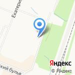 Охтинская дуга на карте Санкт-Петербурга
