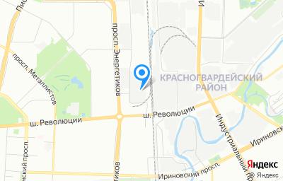 Местоположение на карте пункта техосмотра по адресу г Санкт-Петербург, ш Революции, д 58А литер ж