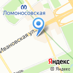 Сауна на карте Санкт-Петербурга
