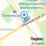Хамелеон на карте Санкт-Петербурга