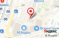 Схема проезда до компании Мебельбор в Новом Девяткино