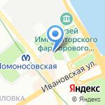Крылья на карте Санкт-Петербурга