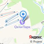 Охта Парк на карте Санкт-Петербурга