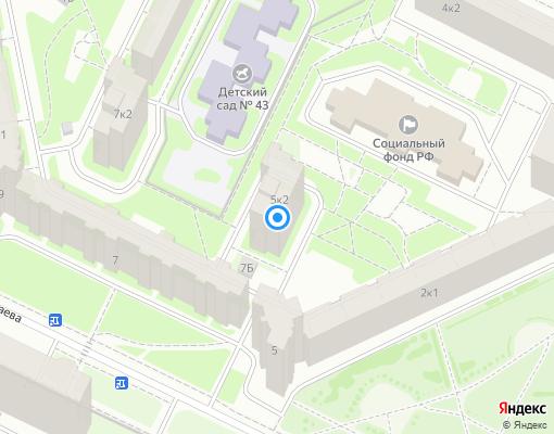 Товарищество собственников жилья «Зенит» на карте Санкт-Петербурга