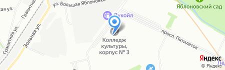 Автошкола на карте Санкт-Петербурга