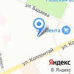Паркинг на Бадаева на карте Санкт-Петербурга