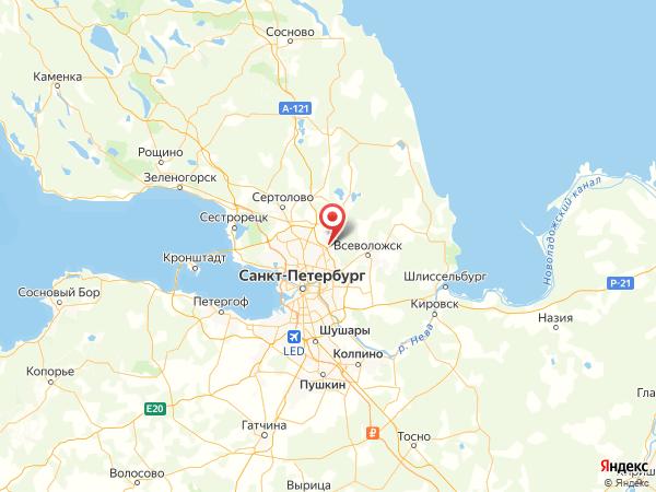 посёлок Мурино на карте