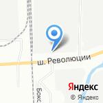 Полет на карте Санкт-Петербурга