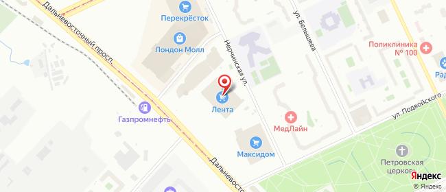 Карта расположения пункта доставки Санкт-Петербург Дальневосточный в городе Санкт-Петербург