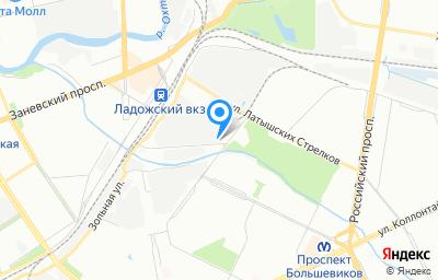 Местоположение на карте пункта техосмотра по адресу г Санкт-Петербург, ул Ванеева, д 10 литер а