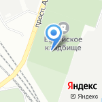 Еврейское кладбище на карте Санкт-Петербурга