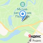 Павловск на карте Санкт-Петербурга