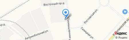 Шиномонтажная мастерская для грузовых машин на Промышленной (Пушкин) на карте Санкт-Петербурга