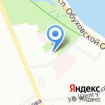 Звезда на карте Санкт-Петербурга