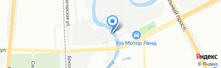 Шиномонтажная мастерская на Объездном шоссе на карте Санкт-Петербурга