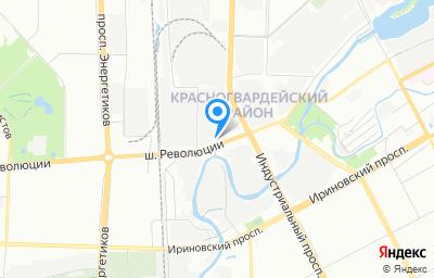 Местоположение на карте пункта техосмотра по адресу г Санкт-Петербург, ш Революции, д 86 литер т