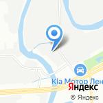 Охтинец на карте Санкт-Петербурга