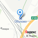 Обухово на карте Санкт-Петербурга