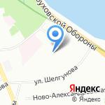 Школа-интернат №18 на карте Санкт-Петербурга