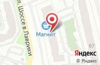 Схема проезда до компании Петербургская недвижимость в Мурино