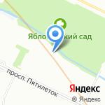 Акварель СПб на карте Санкт-Петербурга