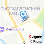 Этреко на карте Санкт-Петербурга