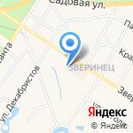 Заречье на карте Санкт-Петербурга