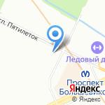 Вкусный на карте Санкт-Петербурга