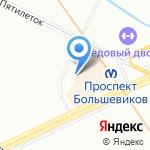 Невский-1 на карте Санкт-Петербурга