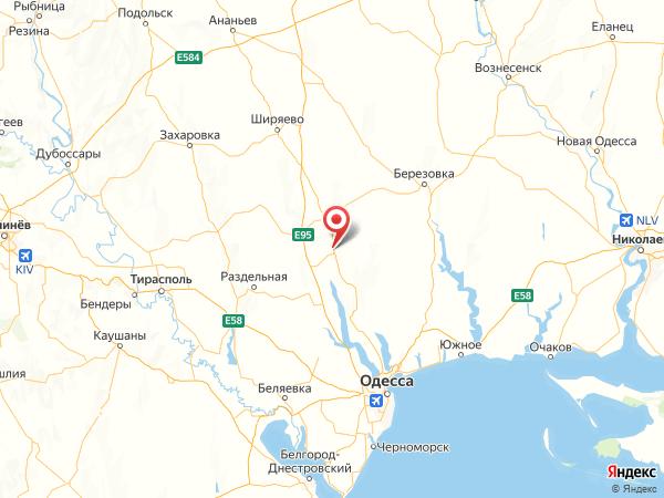 поселок городского типа Ивановка на карте