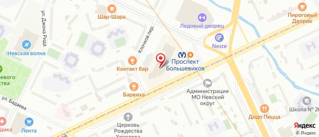 Карта расположения пункта доставки Санкт-Петербург Коллонтай в городе Санкт-Петербург