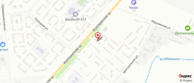 Карта расположения пункта доставки Шушары Колпинское в городе Шушары