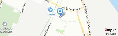 Шиномонтажная мастерская на ул. Грибакиных на карте Санкт-Петербурга