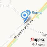 Пивная башня на карте Санкт-Петербурга