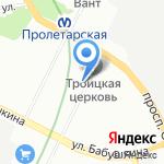 Трамвайный парк №7 на карте Санкт-Петербурга