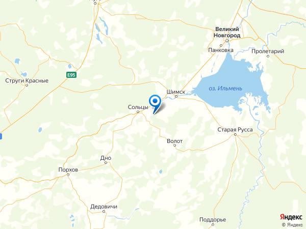 деревня Большое Данилово на карте