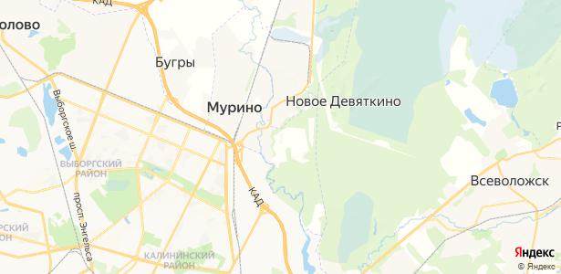 Мурино на карте