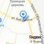 Аурум на карте Санкт-Петербурга