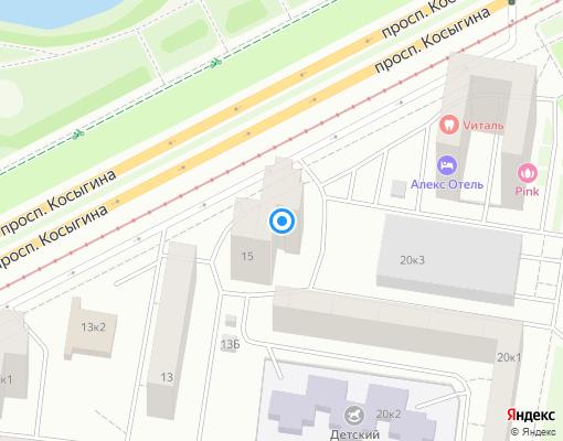 Жилищно-строительный кооператив «ЖСК №1214» на карте Санкт-Петербурга