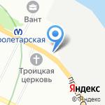Райнис на карте Санкт-Петербурга