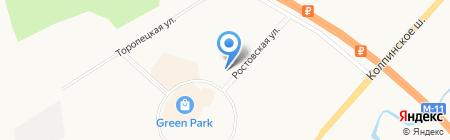 Магазин белорусских продуктов на Ростовской на карте Санкт-Петербурга