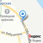 Евротракт на карте Санкт-Петербурга